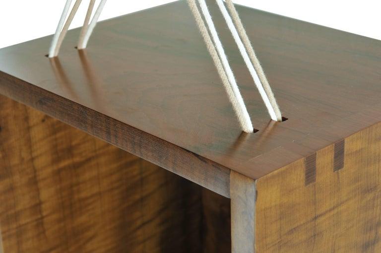 Entrelaçados Floating Cube Shelf in Imbuia Wood For Sale 1