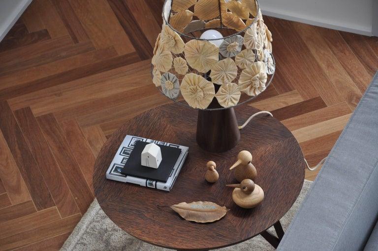 Wood Ipezinho Table Lamp with Yoyo Shade by Brazilian Yankatu For Sale 1