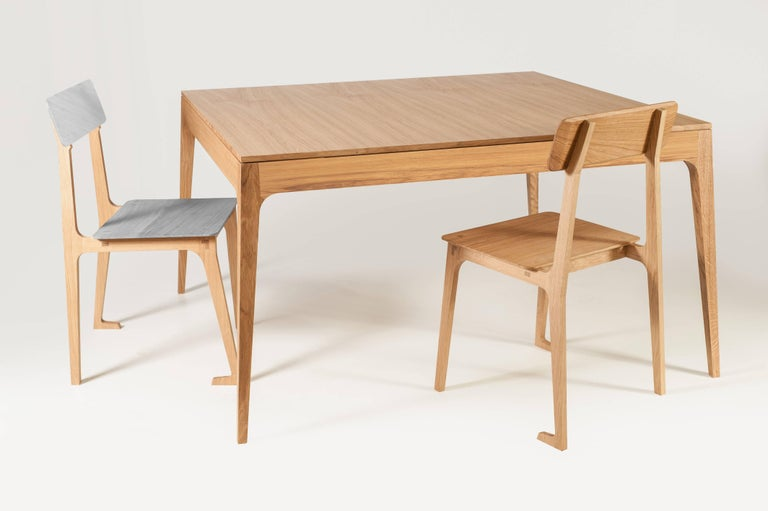 Minimalist Square Dining Table in Brazilian Hardwood  In New Condition For Sale In Sao Paulo, SP