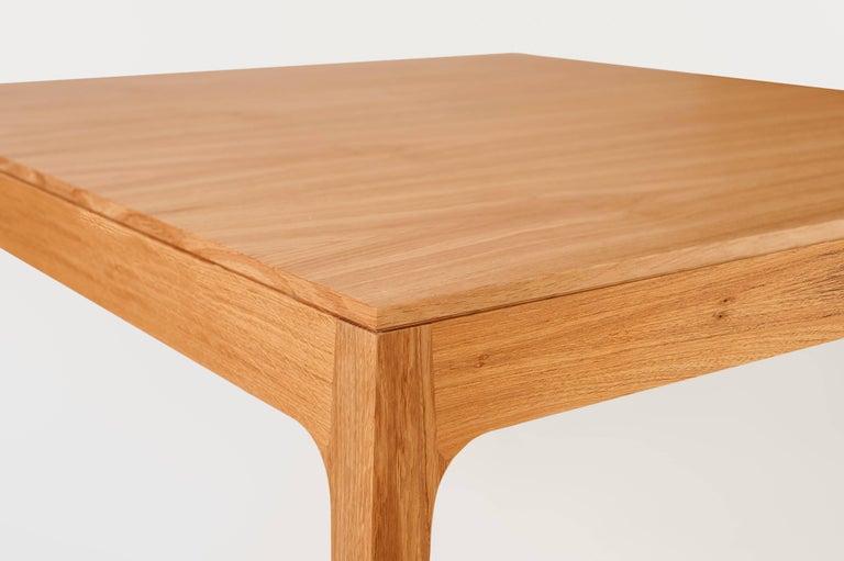 Minimalist Square Dining Table In Brazilian Hardwood