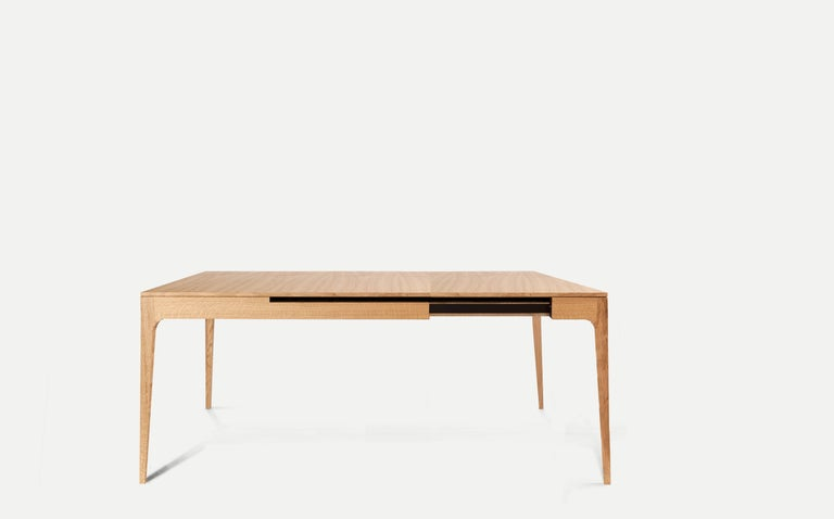 Nina is an elegant dinner table, long and extendable.  reflects the design philosophy of our studio: revealing a highly skilled artisan with a lightweight object, timeless aesthetics and low impact for to the environment, functional and comfortable,