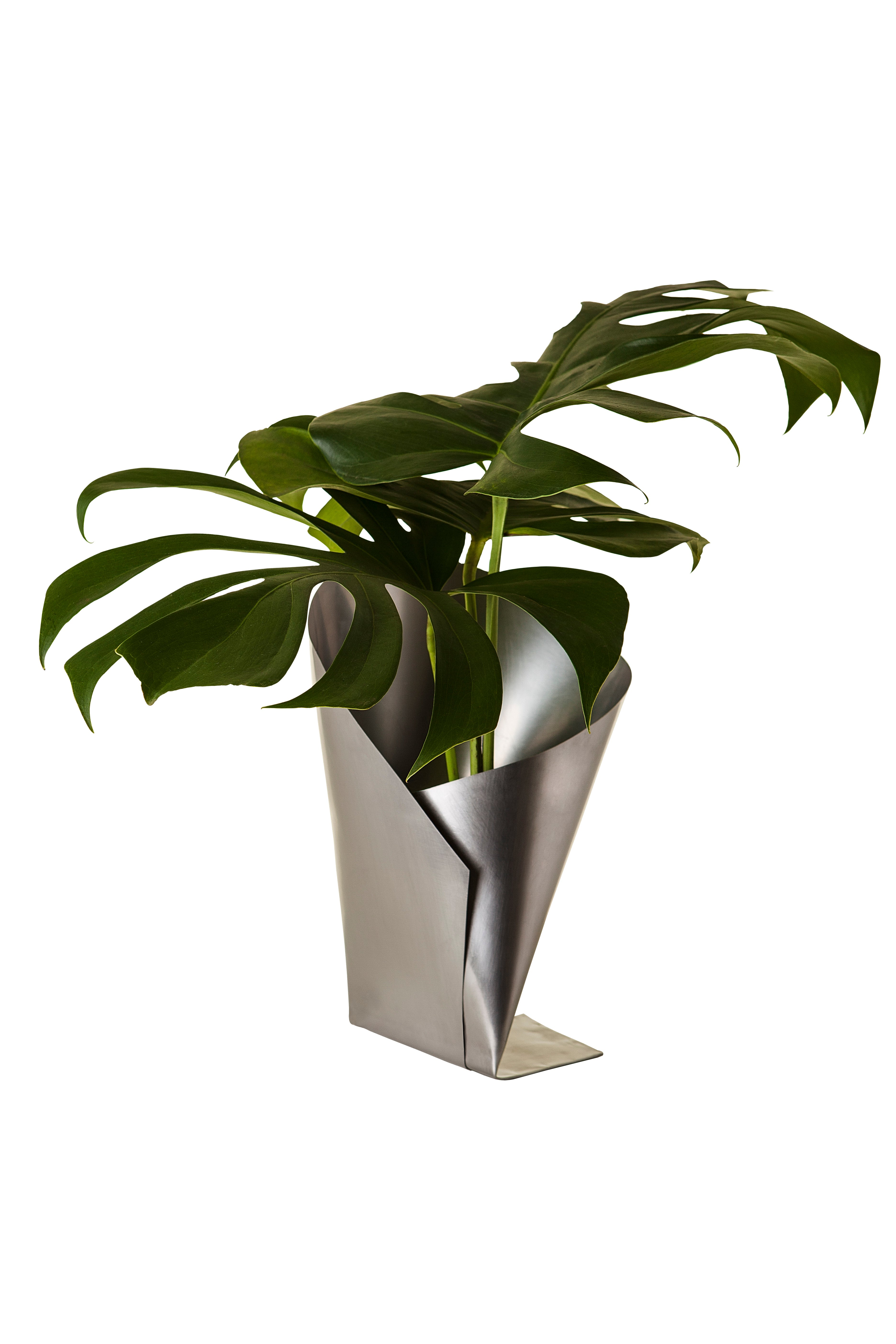 Origami Vase in Stainless Steel, Contemporary Brazilian Style ...