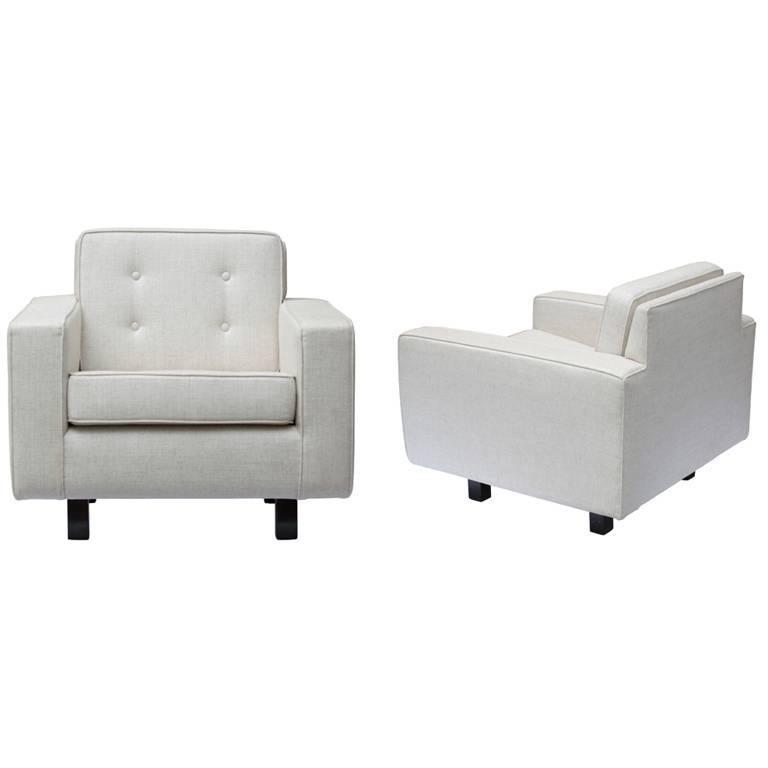 Joaquim Tenreiro Lounge Chair in Jacaranda and Linen, Brazilian Midcentury