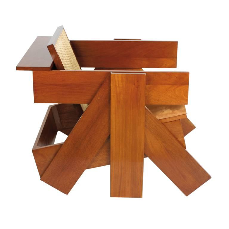 Brazilian Contemporary Design by Rodrigo Almeida Construtivista chair in Mahog