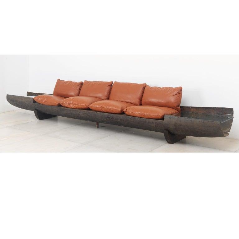 Post-Modern Huge Sofa in Brazilian Hardwood by Jose Zanine Caldas, 1973 For Sale