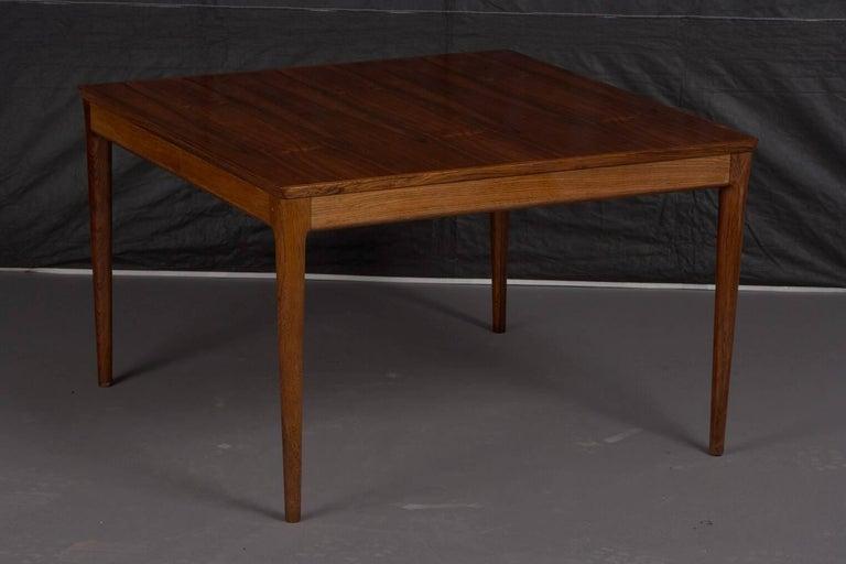 Square Danish rosewood coffee table.