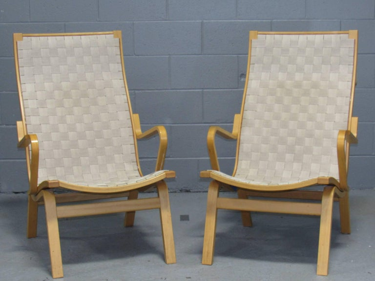 Designed by Finn Østergaard, One set = 1 beech-framed chair with support webbing on the seat and back.