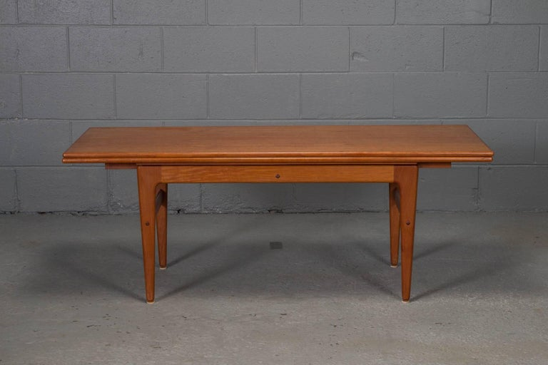Danish Modern Teak Elevator Coffee To Dining Table At 1stdibs