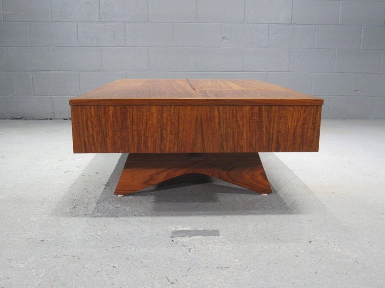 Walnut Origins Coffee Table with Storage Model 272 by George Nakashima for Widdicomb For Sale