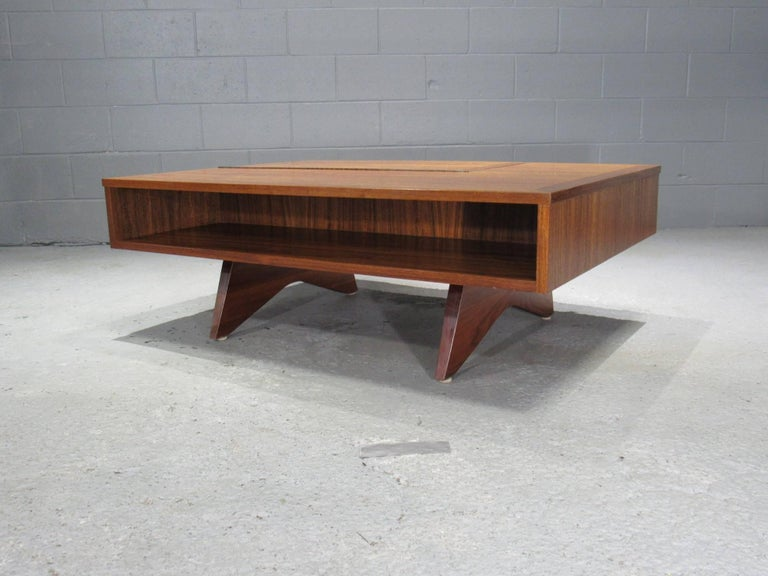 Origins Coffee Table with Storage Model 272 by George Nakashima for Widdicomb For Sale 1