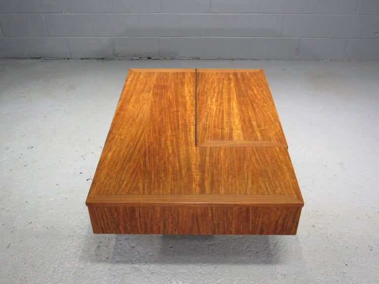 Origins Coffee Table with Storage Model 272 by George Nakashima for Widdicomb In Excellent Condition For Sale In Belmont, MA
