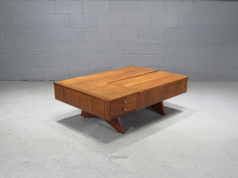 Mid-Century Modern Origins Coffee Table with Storage Model 272 by George Nakashima for Widdicomb For Sale