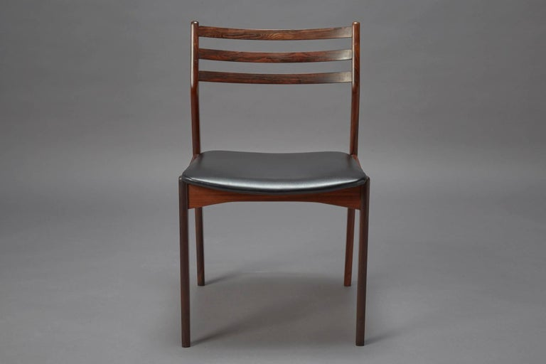 Set of Four Danish Modern Rosewood Dining Chairs Attributed to Niels Otto Møller In Excellent Condition For Sale In Belmont, MA
