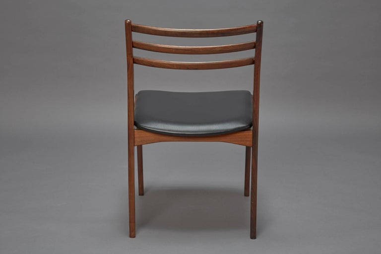 Mid-20th Century Set of Four Danish Modern Rosewood Dining Chairs Attributed to Niels Otto Møller For Sale