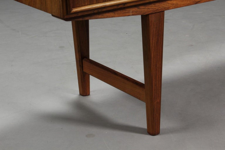 High Rosewood Sideboard by EW Bach for Sejling Skabe For Sale 1