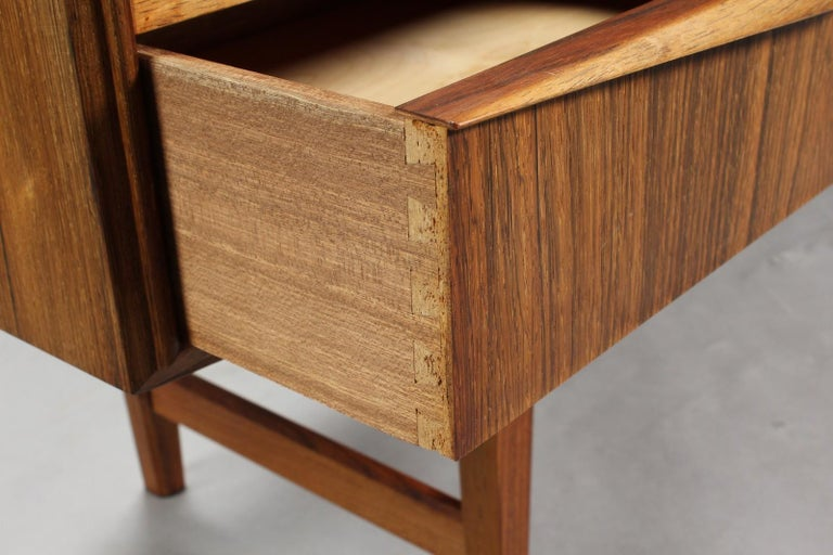 Danish High Rosewood Sideboard by EW Bach for Sejling Skabe For Sale
