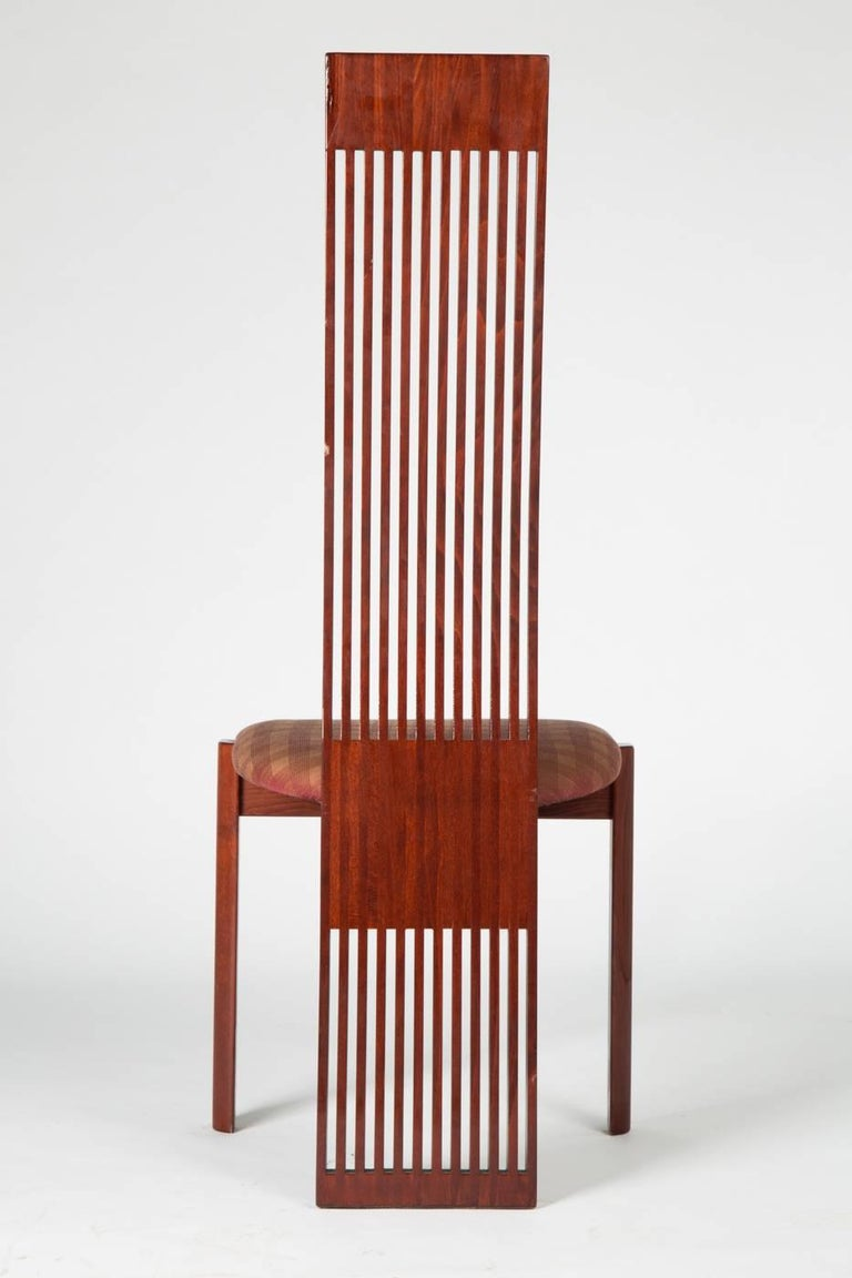 High back chair by Pietro Constantini, Italy, 1970s. Underside with manufacturer label.