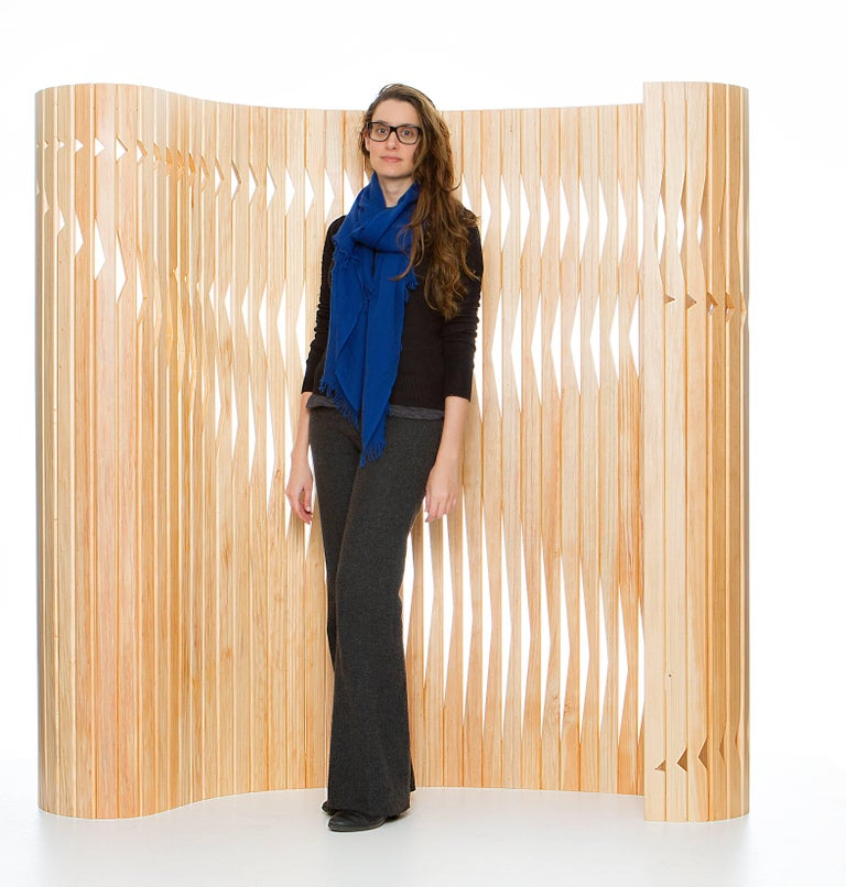 Wood Partition Screen, Foldable, Flexible, Brazilian Design 5