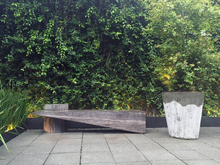 Slimstone Bench in Black Marble, Minimalist Brazilian Design  For Sale 3