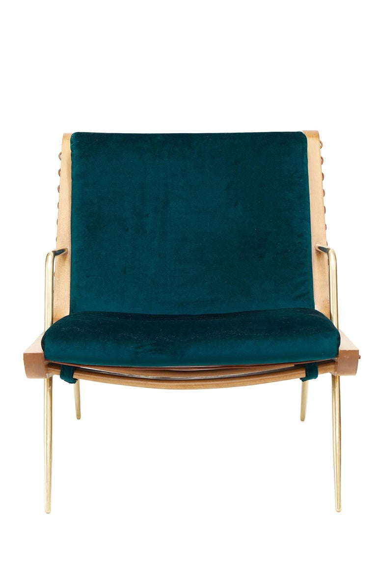 Mid-Century Modern Midcentury Inspired Walt Lounge Chair and Ottoman For Sale