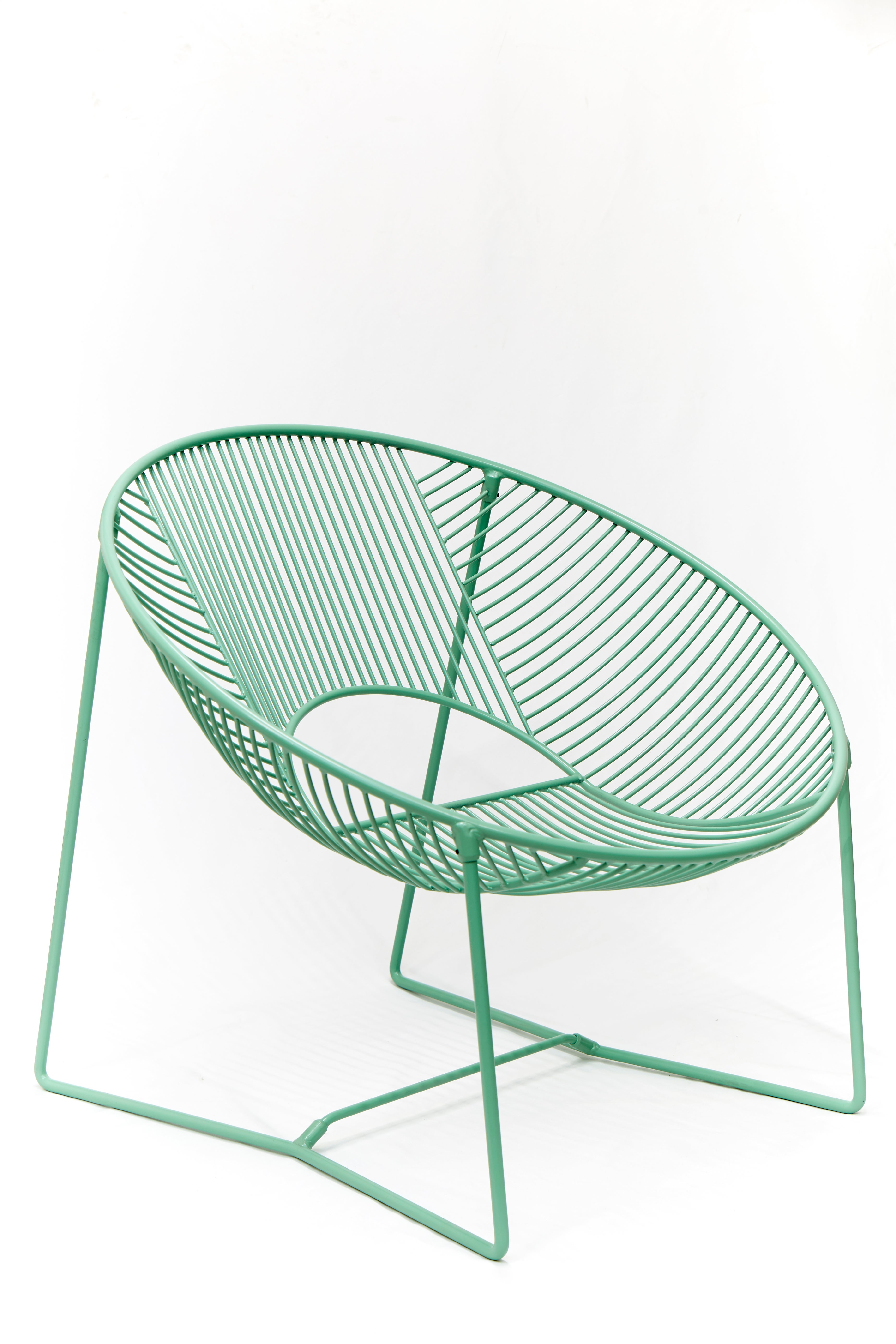 Handcrafted Outdoor Cali Wire Lounge Chair, Powder-Coated Steel For ...
