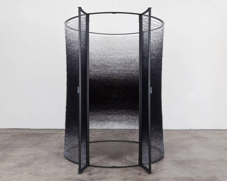 Contemporary Handwoven Fiber Art Installation Black Interior By Mimi Jung For Sale At 1stdibs