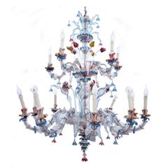 Italian Ca' Rezzonico Chandelier in Murano Glass, 1890s