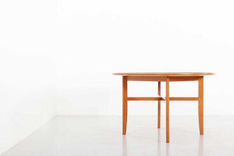 Dining / game table by David Rosén for Nordiska Kompaniet, Sweden, 1950s.