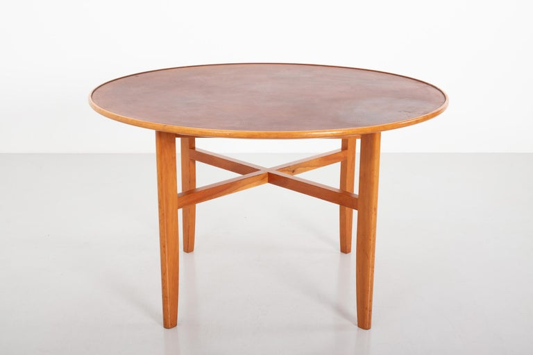 Scandinavian Modern Dining Table by David Rosén for Nordiska Kompaniet, Sweden, 1950s For Sale