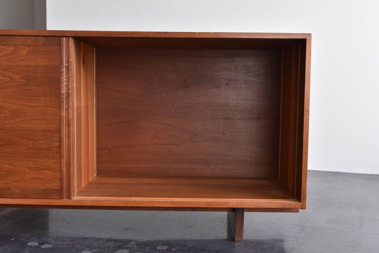 Mid-20th Century George Nakashima Cherrywood Studio Cabinet, Double Sliding Doors, circa 1960 For Sale