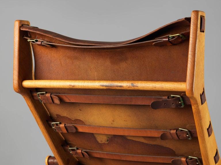 Mogens Voltelen, Copenhagen Lounge Chair II, Oak, Natural Brown Leather, 1960 For Sale 2