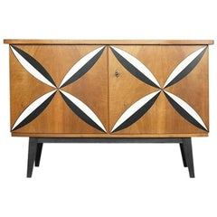 Model 151 Walnut Cabinet from VEB Holzindustrie Eisenberg, 1961