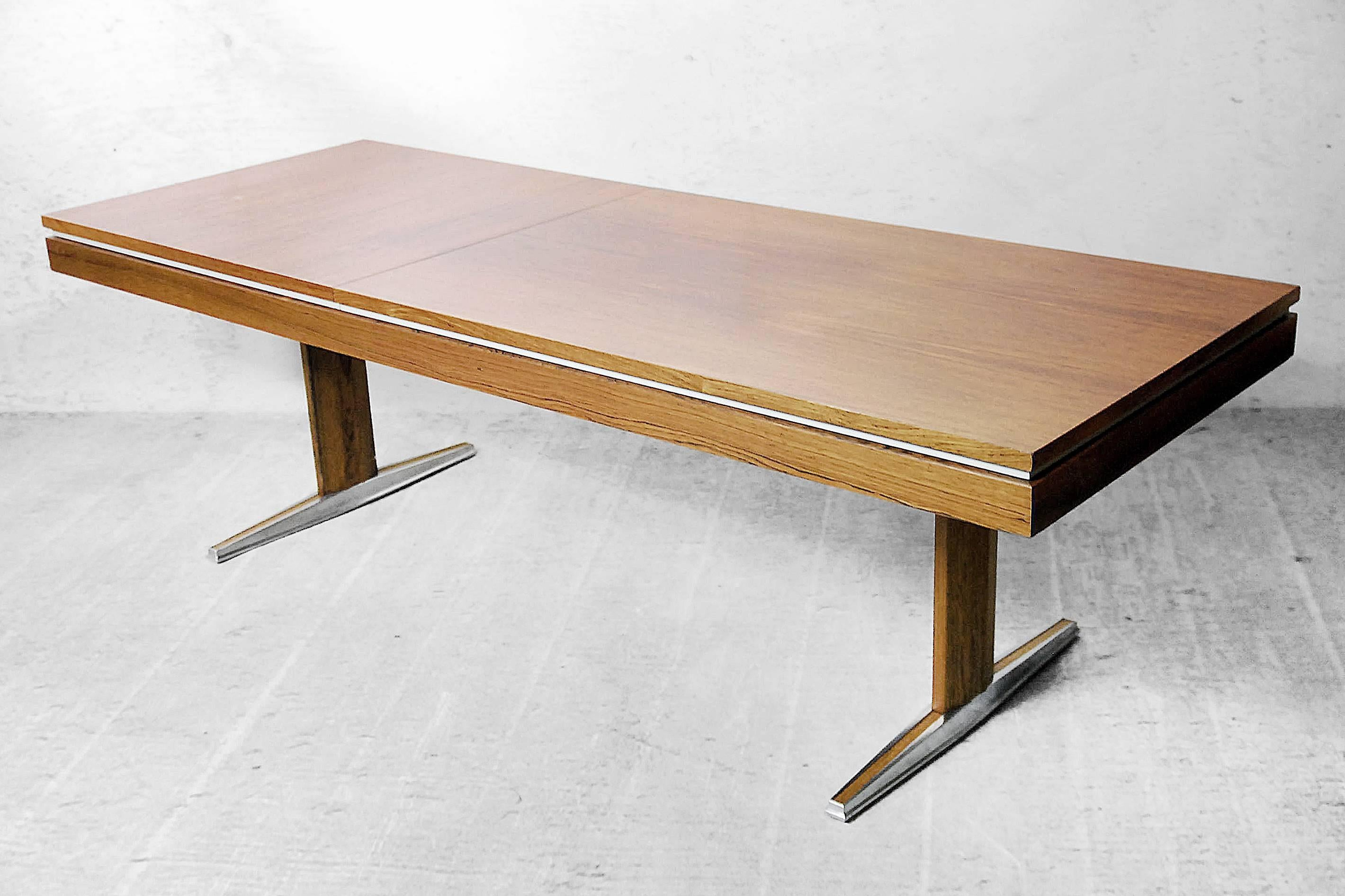 German Rosewood Modern Adjule Table From E M Ü 1960s For At 1stdibs