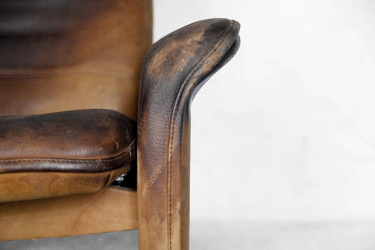 Adjustable Ds 50 Buffalo Leather Lounge Chair From De Sede