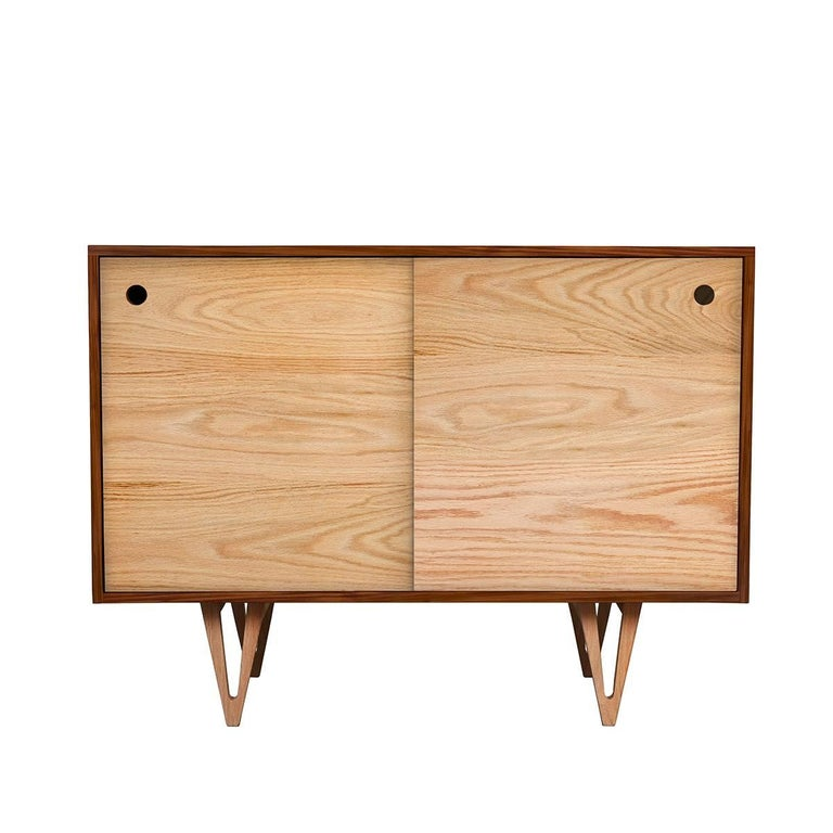 Harrison Mid-Century Modern Styled Dresser Handcrafted from Solid Ash and Walnut