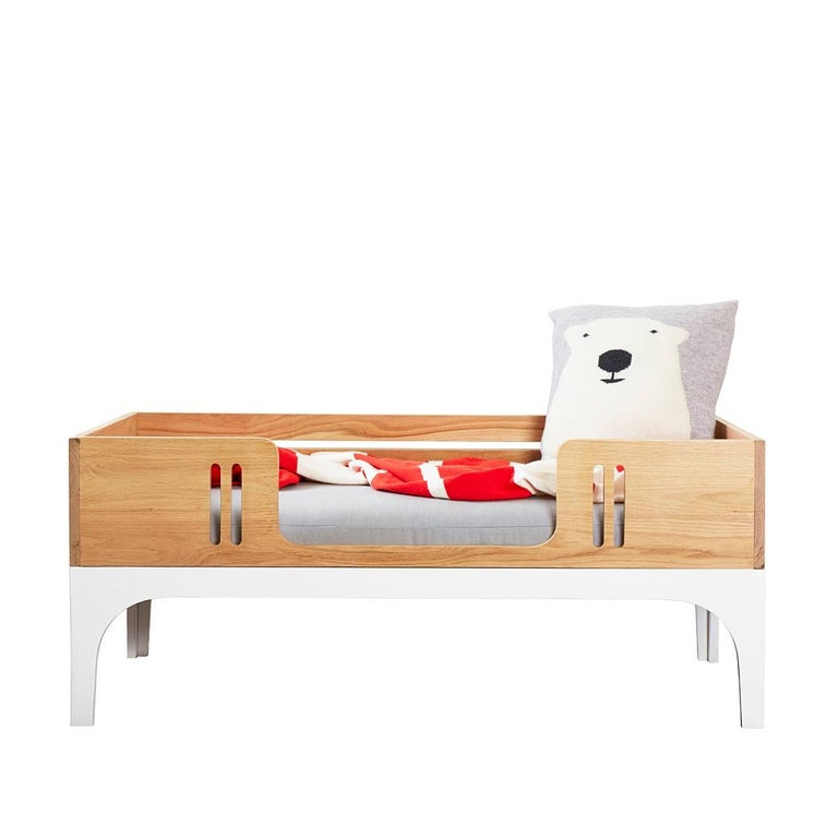 Coco Toddler Daybed Children's Furniture Set in Solid Ash and White Lacquer