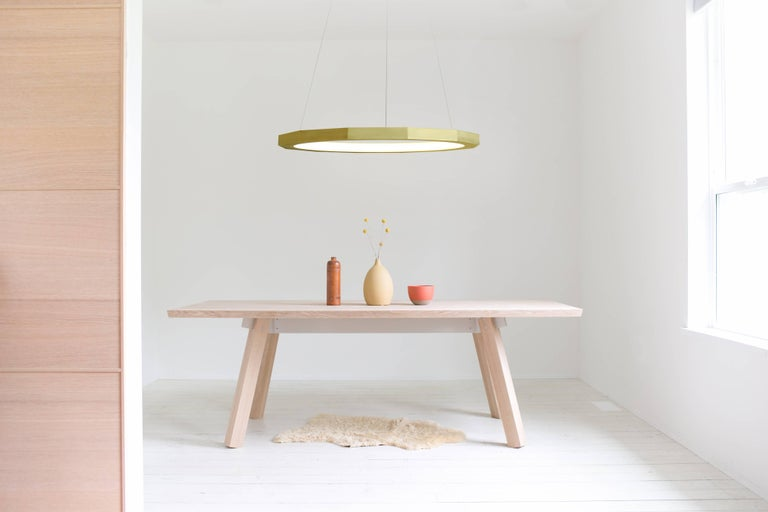 Modern Dodeca 46 Brushed Brass Chandelier by Matthew McCormick Studio For Sale