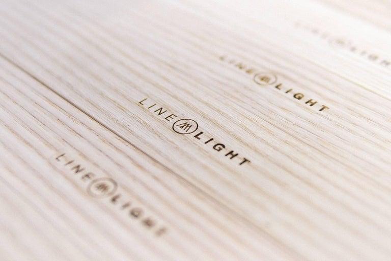 Contemporary Line Light 606060 White Ash 'X' by Matthew McCormick Studio For Sale