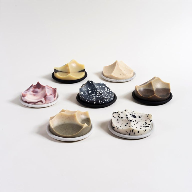 Set of 3, Lavender, Cedar, Grapefruit, Hand-Poured Soap, Erode by UMÉ Studio For Sale 4