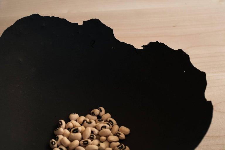 Contemporary Handmade Cast Concrete Bowl in Black by UMÉ Studio For Sale