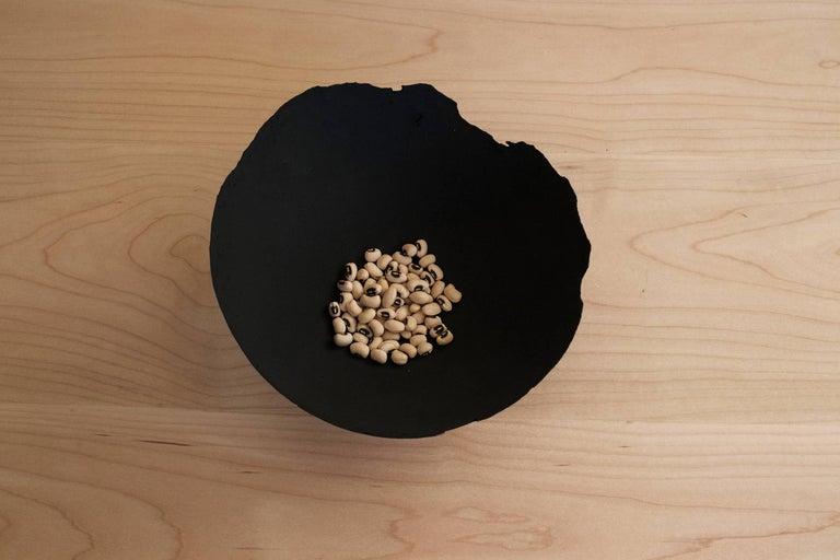Handmade Cast Concrete Bowl in Black by UMÉ Studio For Sale 2