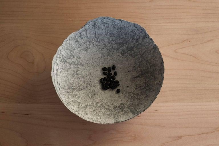 Handmade Cast Concrete Bowl in Grey by UMÉ Studio For Sale 4