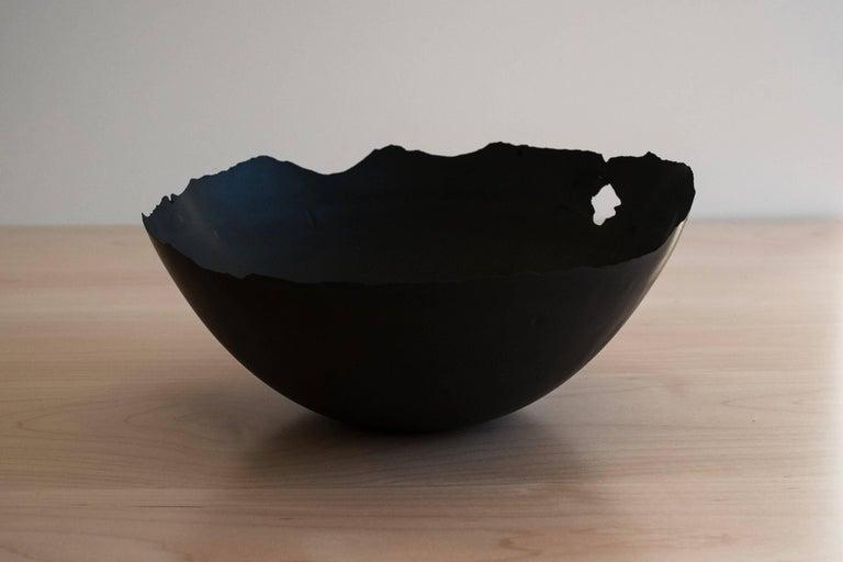 Handmade Cast Concrete Bowl in Black by UMÉ Studio, Set of Six For Sale 5