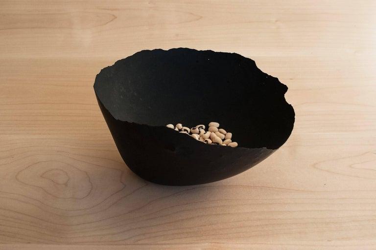 Minimalist Handmade Cast Concrete Bowl in Black by UMÉ Studio, Set of Six For Sale