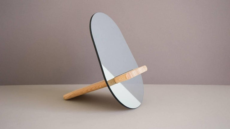 Hand-Crafted Tenon Mirror with Mirropane and Birch by UMÉ Studio For Sale