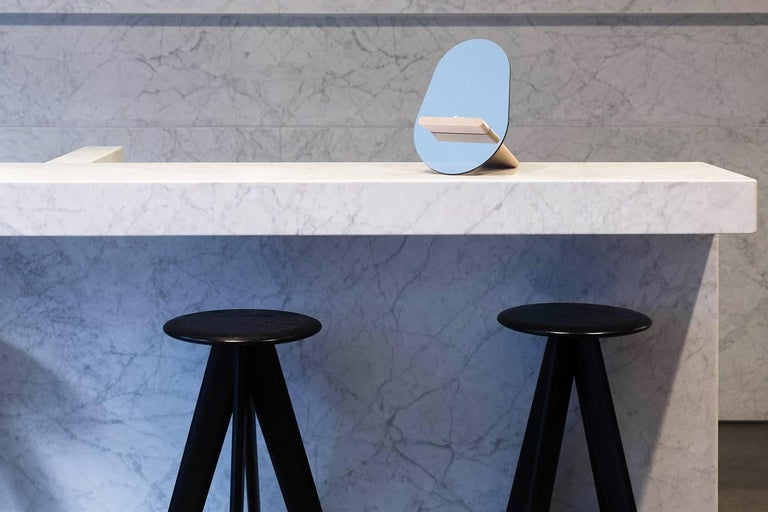 Minimalist Tenon Mirror with Mirropane and Birch by UMÉ Studio For Sale