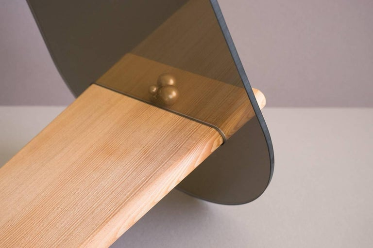 Tenon Mirror with Mirropane and Birch by UMÉ Studio For Sale 2