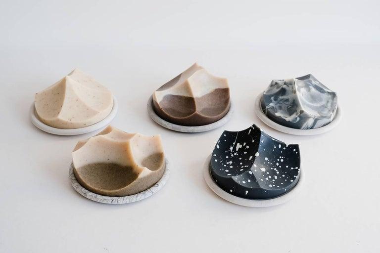 Contemporary Cardamom Vetiver, Hand-Poured Soap, Erode Series by UMÉ Studio For Sale