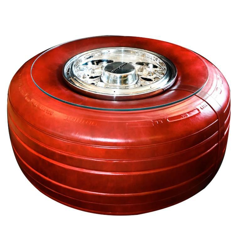 Exceptionnel Tyre Edition Boeing 747 Wheel Coffee Table For Sale
