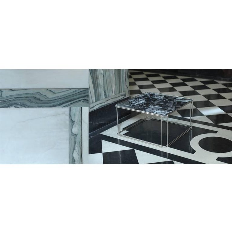 Scottish Contemporary 'Templetonian' Coffee Table With Collage Design Glass Top For Sale